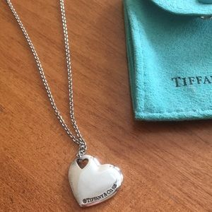 Tiffany & Co. Double Cut-Out Puffy Heart Necklace